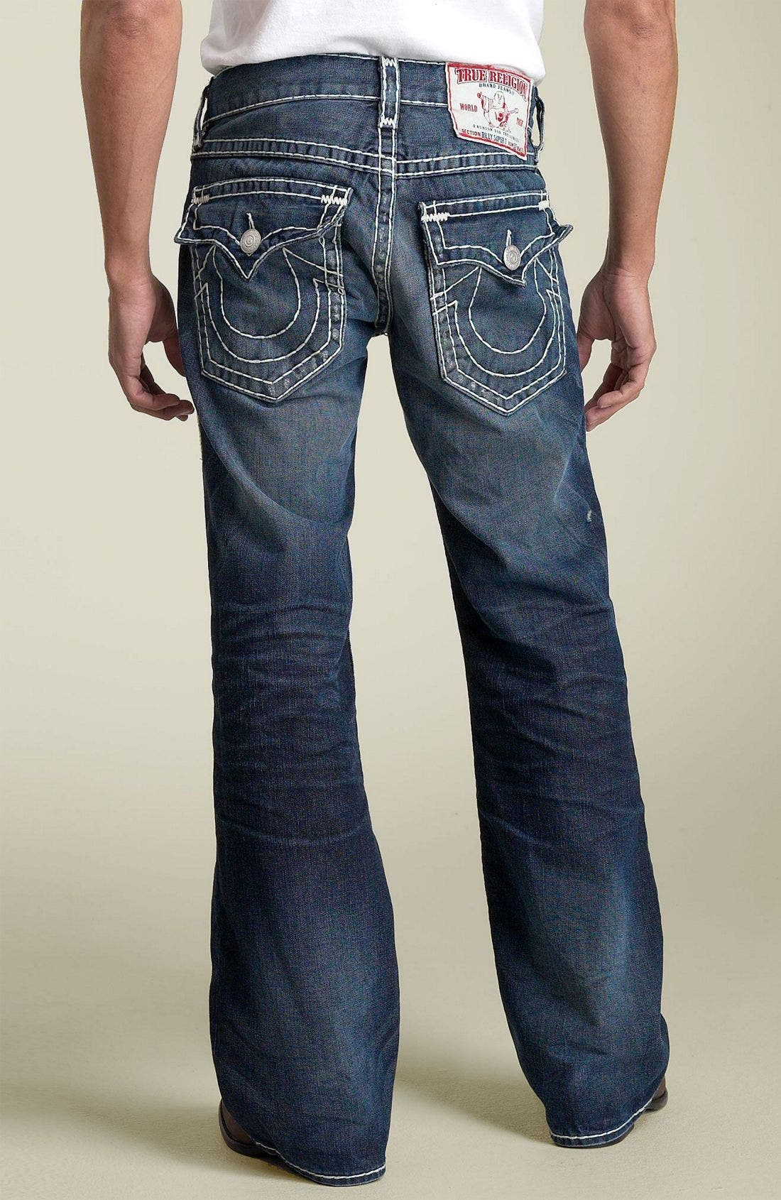 Alternate Image 1 Selected - True Religion Brand Jeans 'Billy - Natural Super-T' Bootcut Jeans (Medium Moto Psycho)