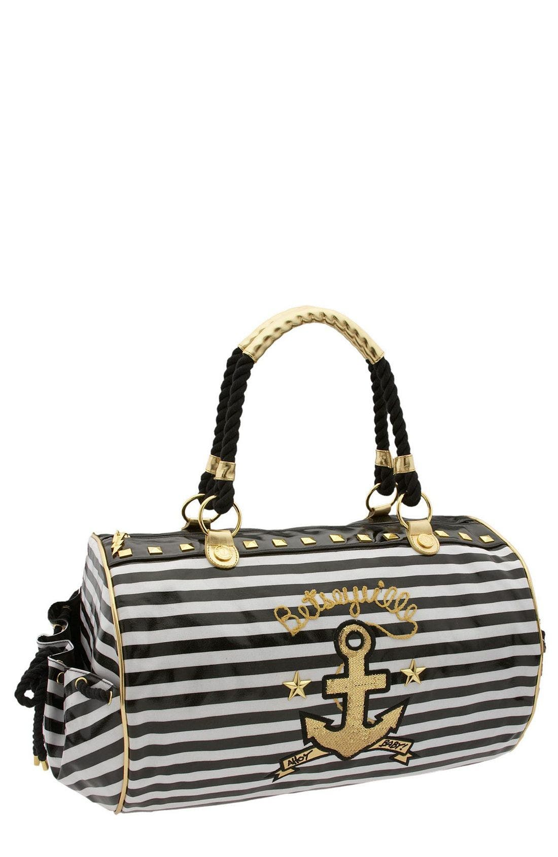 Alternate Image 1 Selected - Betseyville by Betsey Johnson 'Ships Ahoy'  Duffel