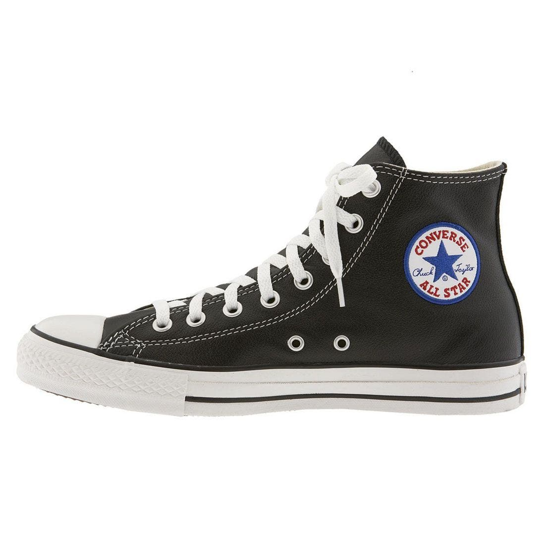Alternate Image 3  - Converse Chuck Taylor® All Star® Leather High Top Sneaker (Men)