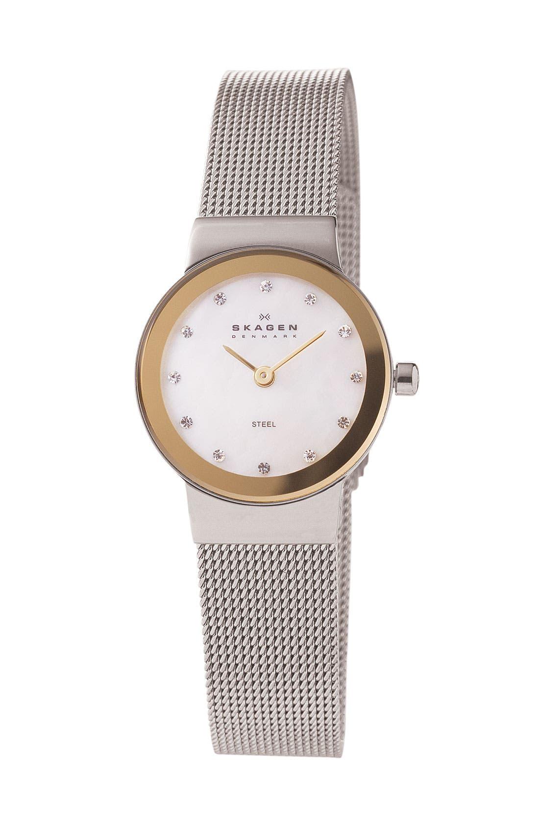 Alternate Image 1 Selected - Skagen Mother of Pearl Bracelet Watch