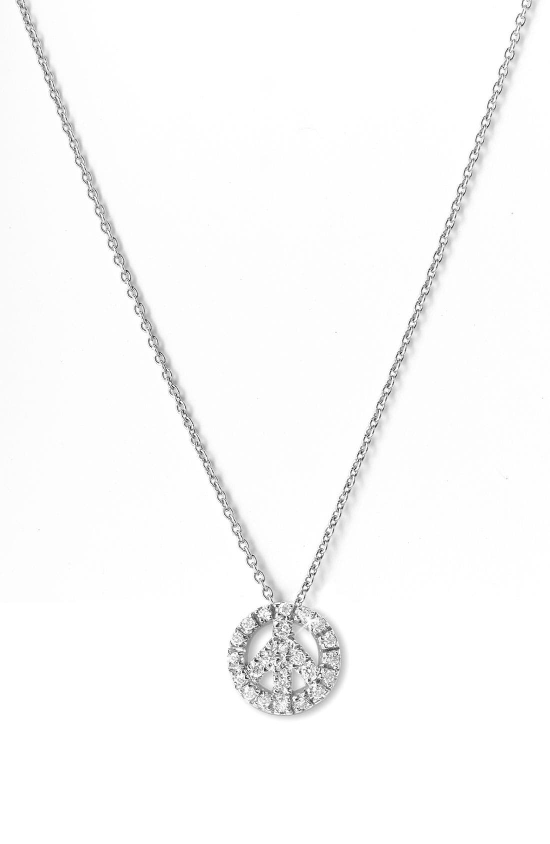 Alternate Image 1 Selected - Roberto Coin 'Tiny Treasures' Peace Sign Necklace