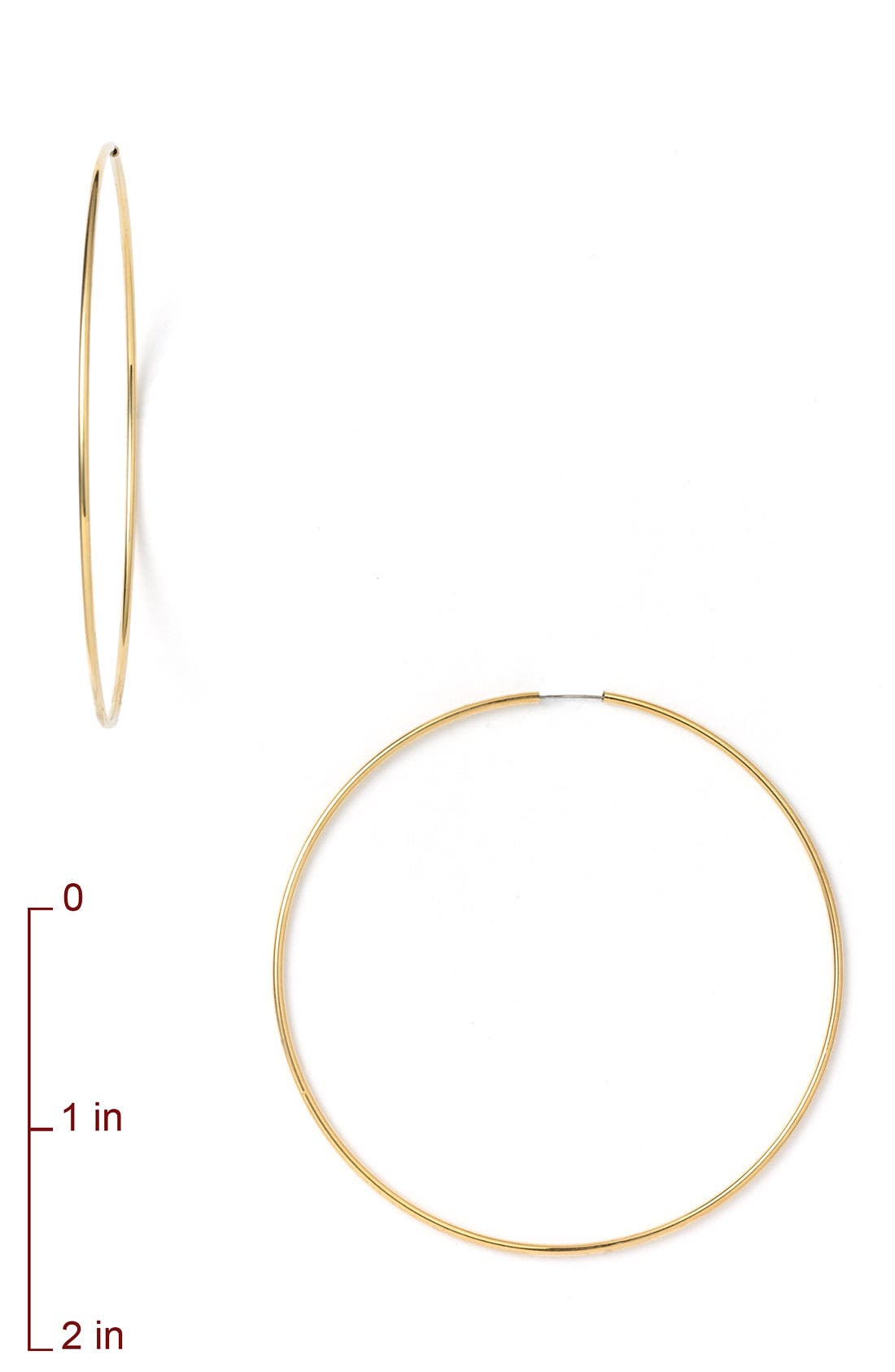 Alternate Image 2  - Nordstrom Endless Oversized Hoop Earrings