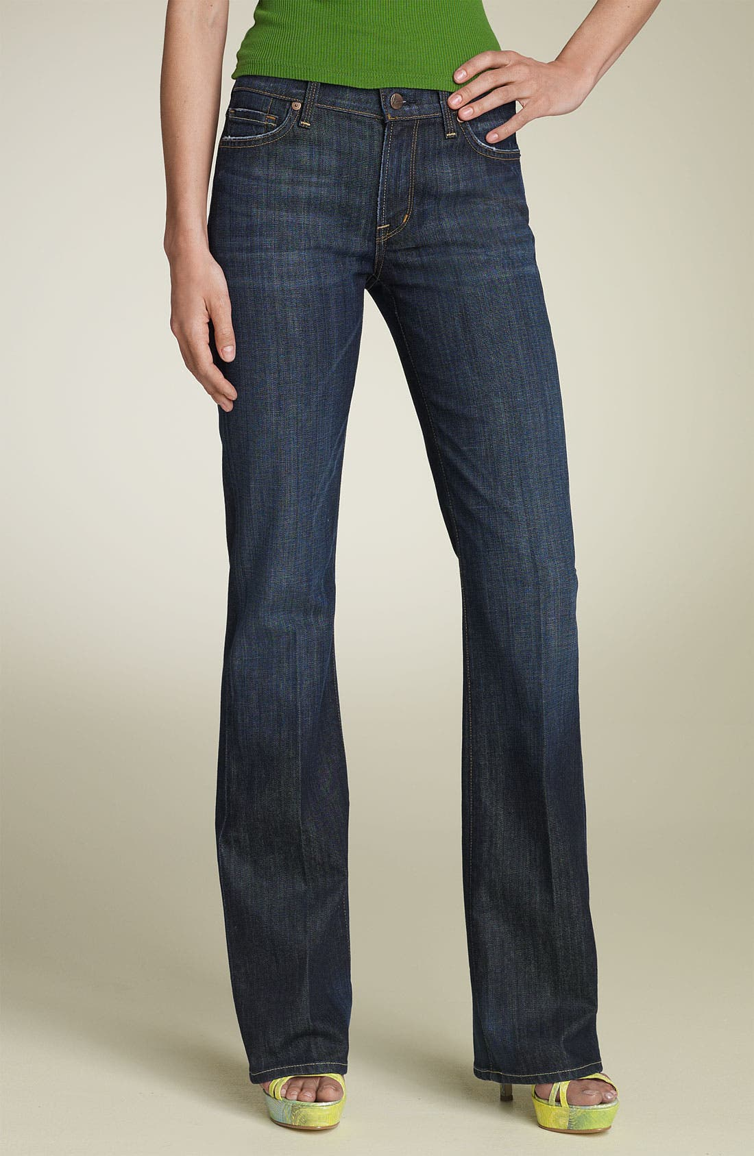 Main Image - Citizens of Humanity 'Amber' Mid Rise Bootcut Stretch Jeans (New Pacific)