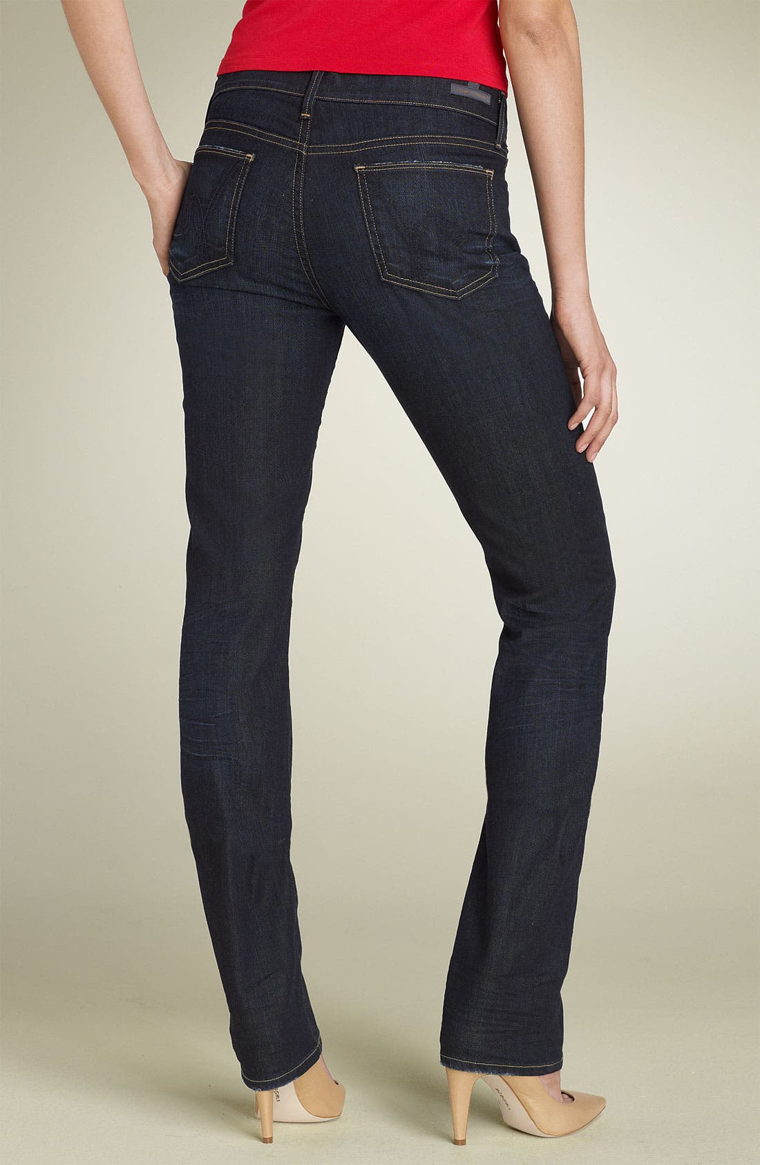 Alternate Image 1 Selected - Citizens of Humanity 'Ava' Straight Leg Stretch Jeans (Faith Wash)