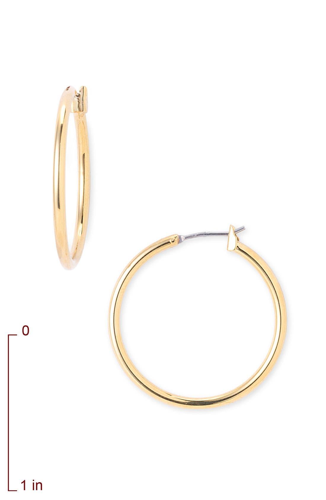 Alternate Image 2  - Nordstrom Tube Hoop Earrings