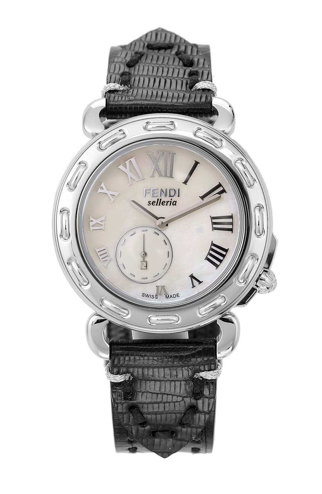 Alternate Image 2  - Fendi Mother-of-Pearl Watch Case & 18mm Strap