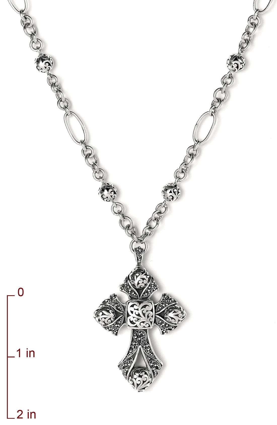 Alternate Image 2  - Lois Hill Granulated Cross Necklace