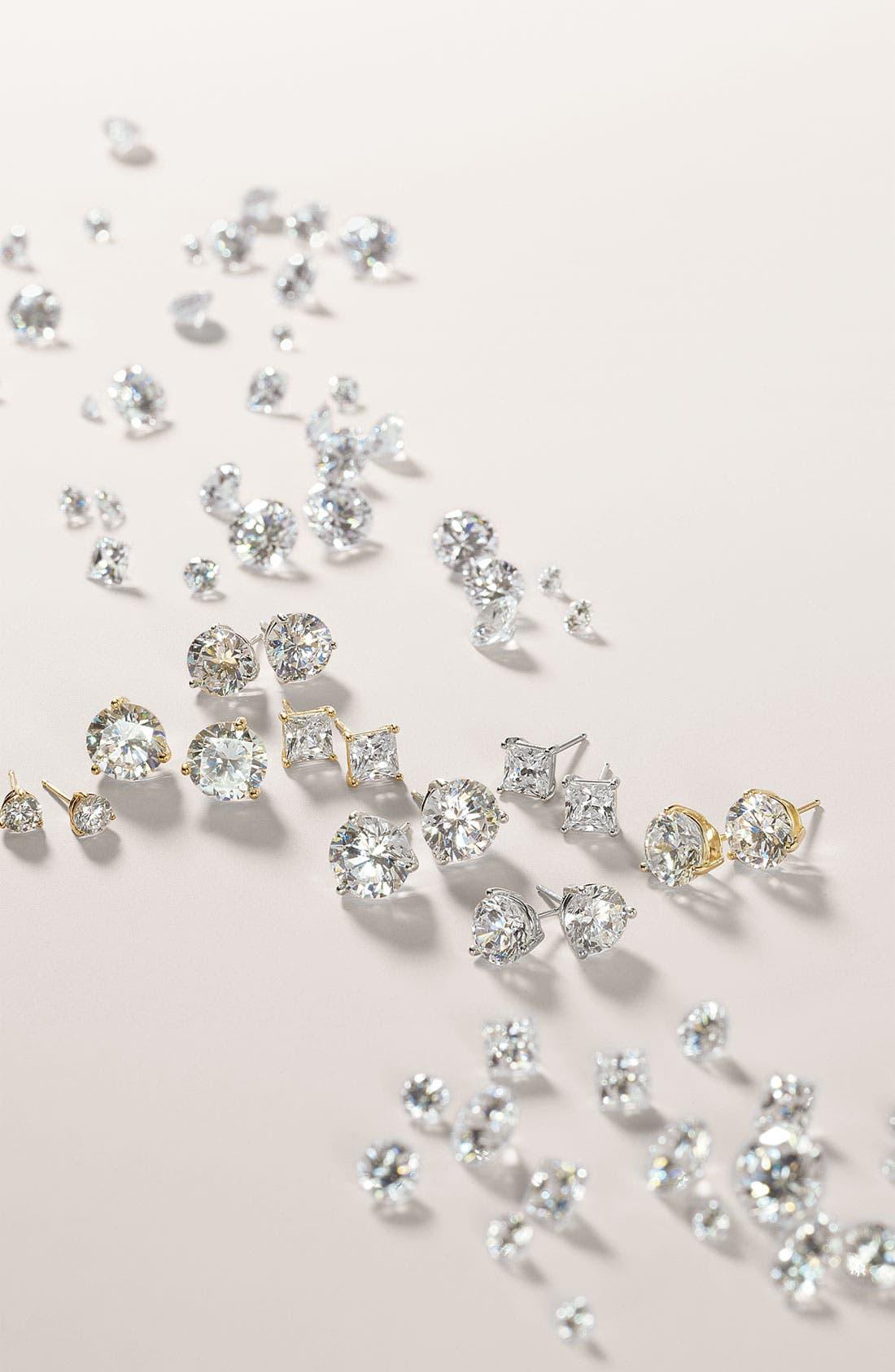Alternate Image 7  - Nordstrom Precious Metal Plated 6ct tw Cubic Zirconia Earrings