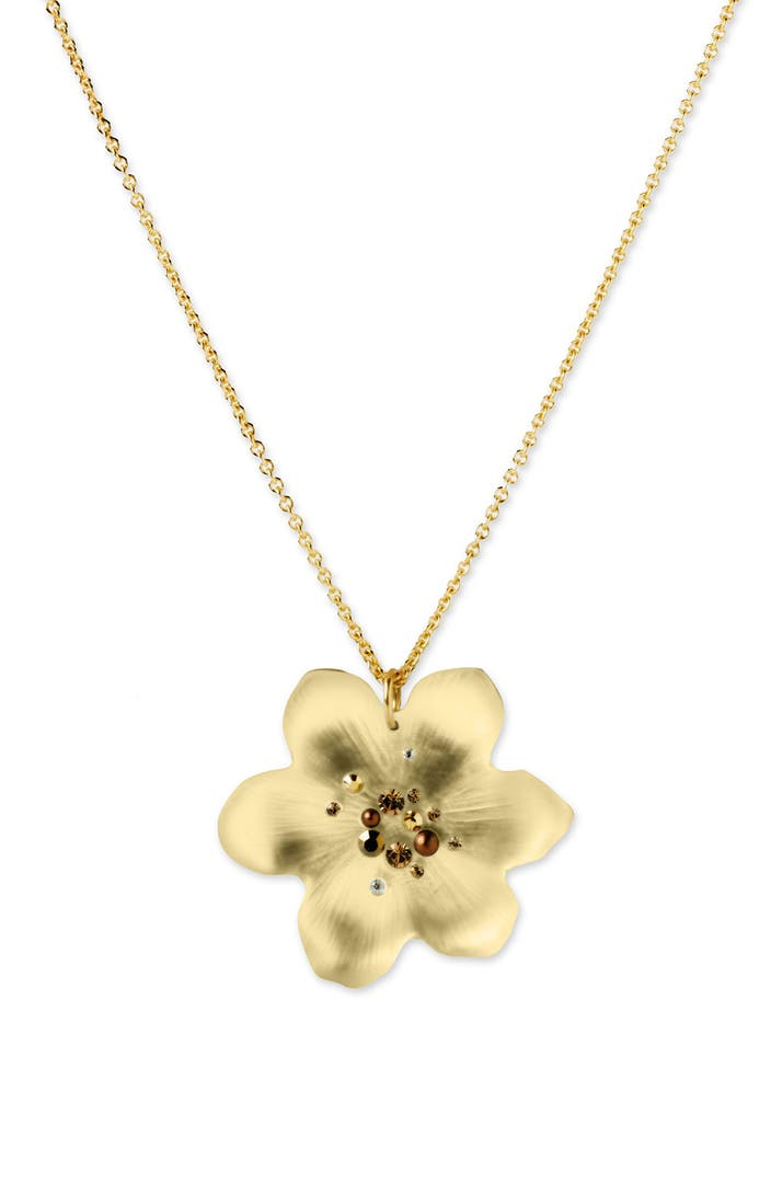 Alexis bittar small flower pendant necklace nordstrom for Gemsprouts tiny plant jewelry