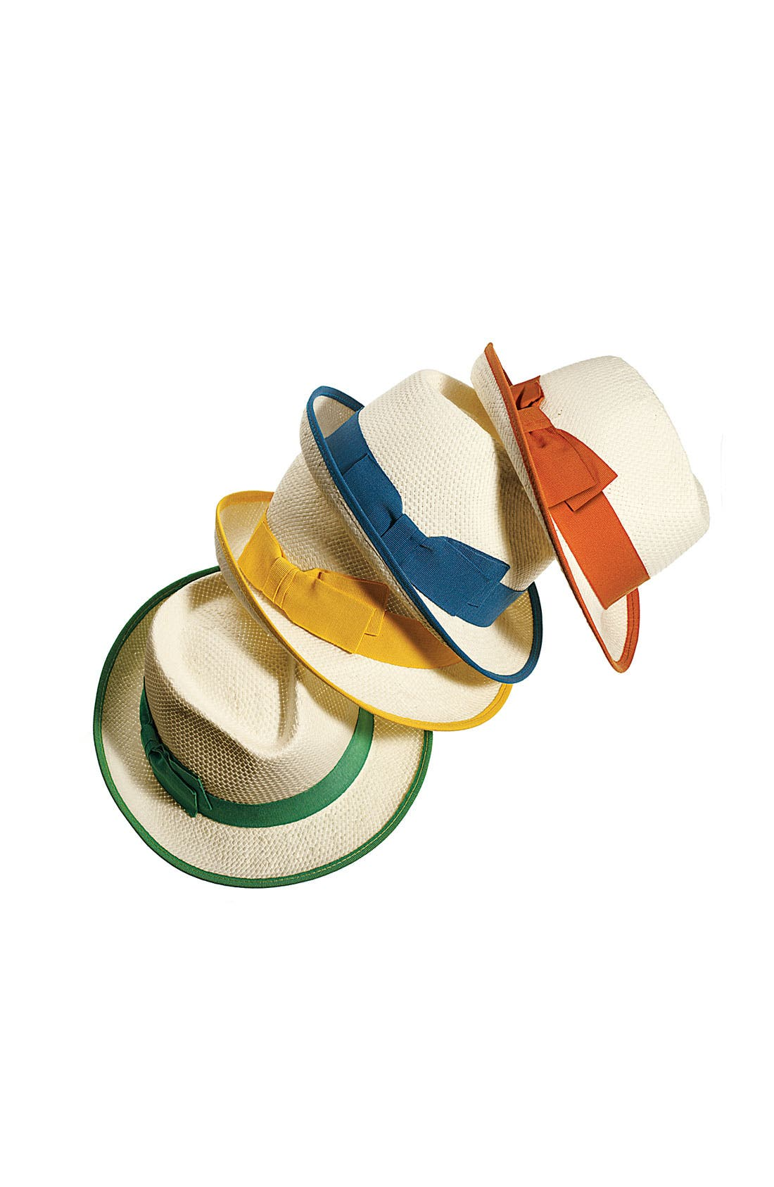 Alternate Image 2  - Nordstrom Grosgrain Border Straw Fedora
