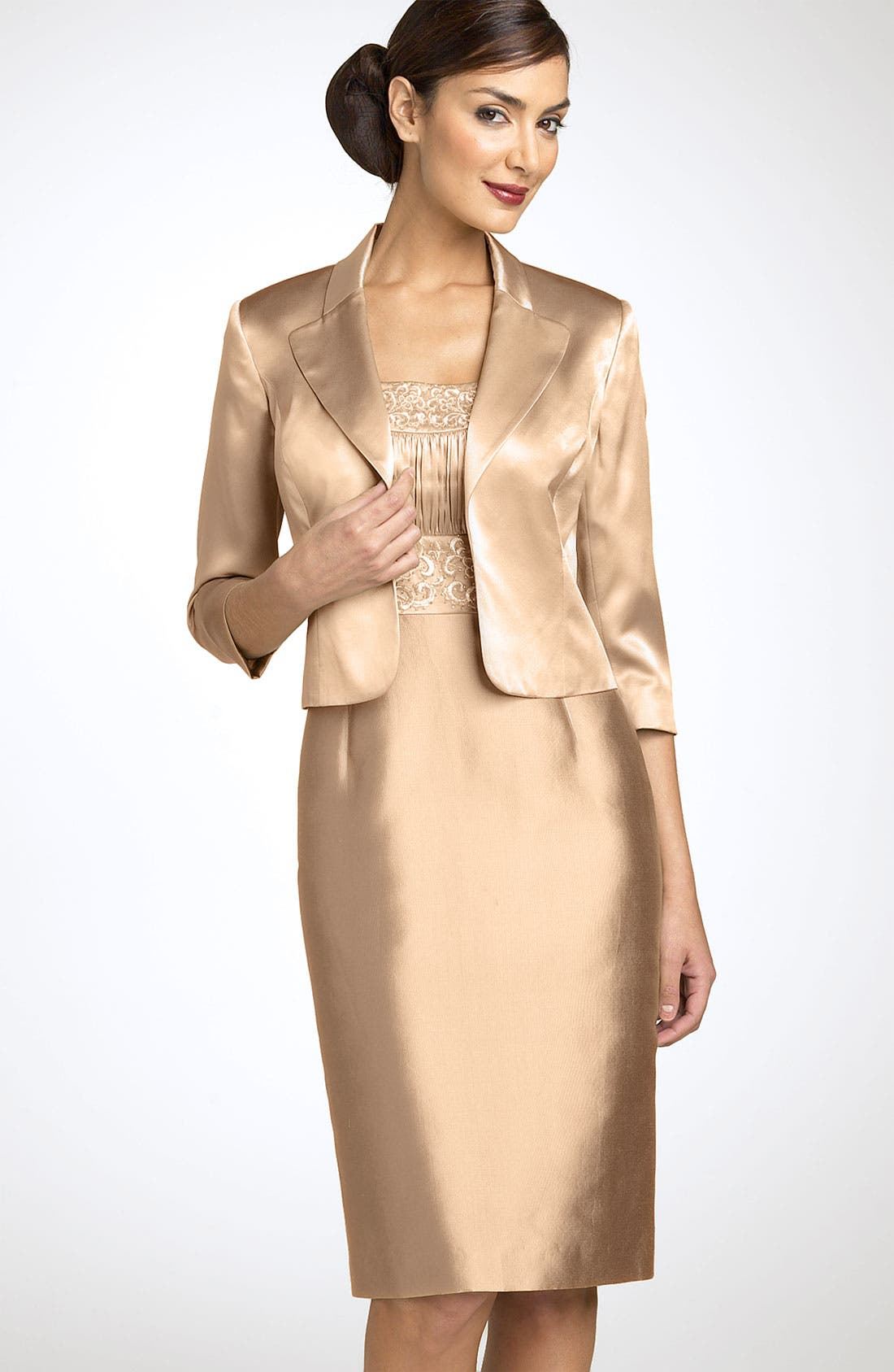 Adrianna Papell Embroidered Sheath Dress Amp Jacket Nordstrom