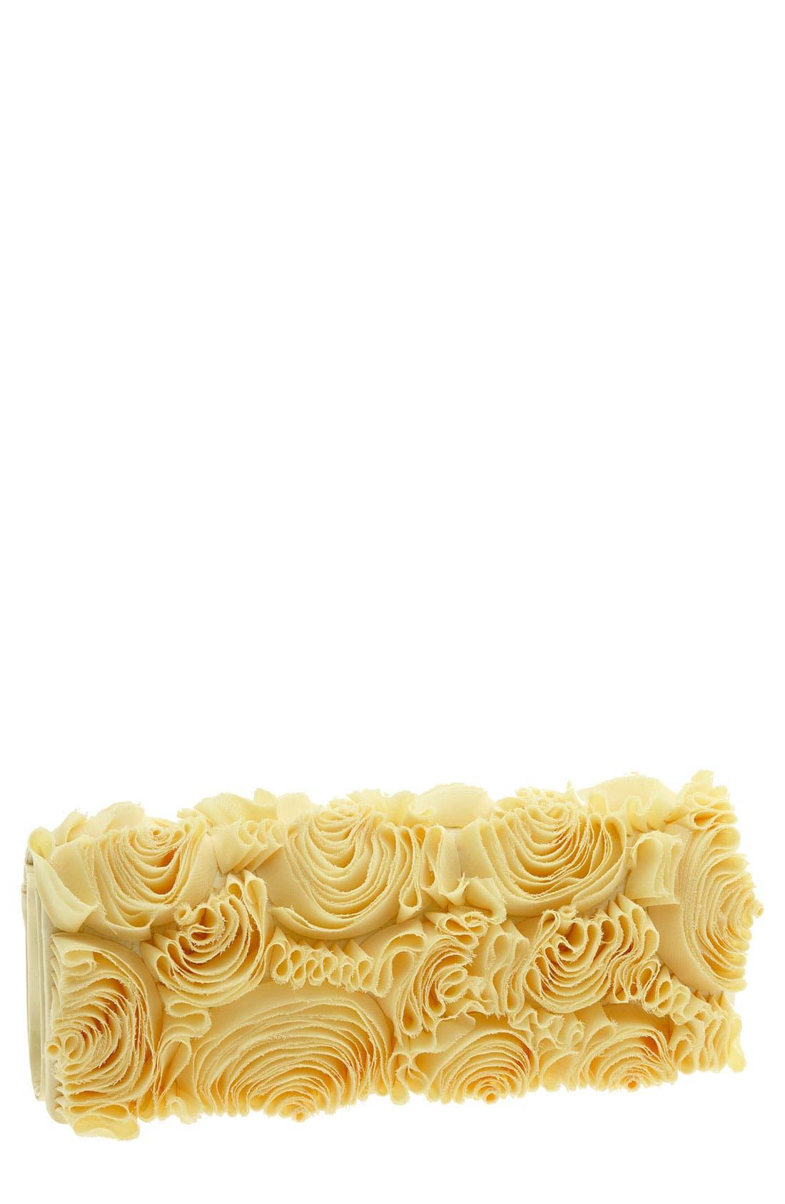 Main Image - Sondra Roberts Floral Organza Clutch
