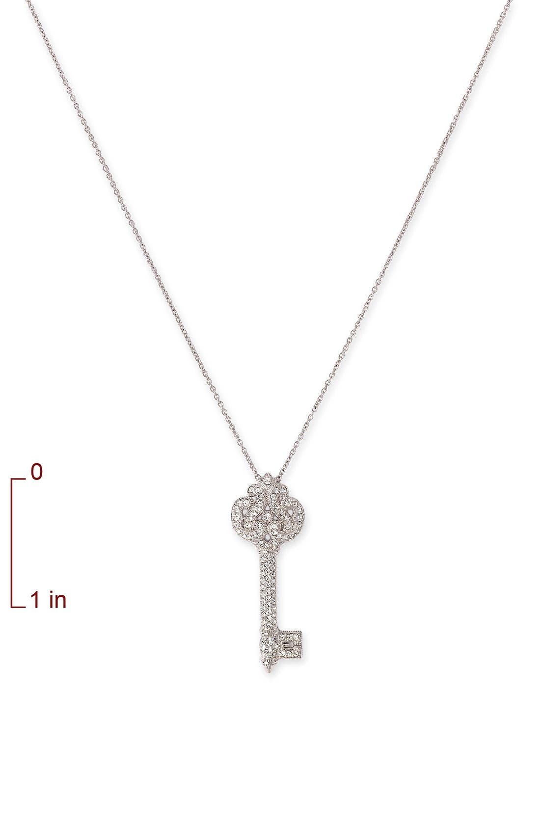 Alternate Image 2  - Nadri 'Cartouche' Key Pendant Necklace