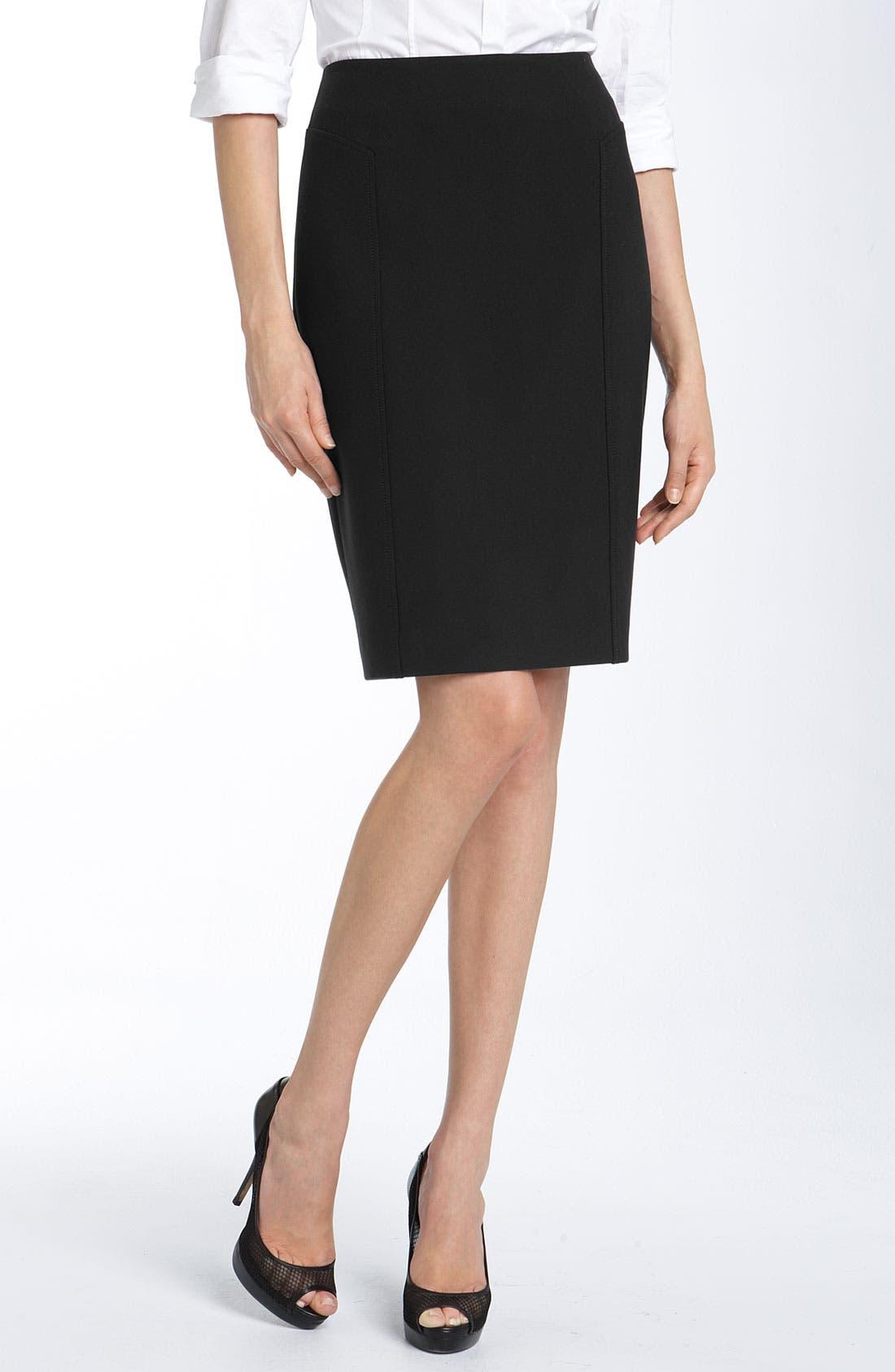 Alternate Image 1 Selected - Halogen® Seamed Pencil Skirt