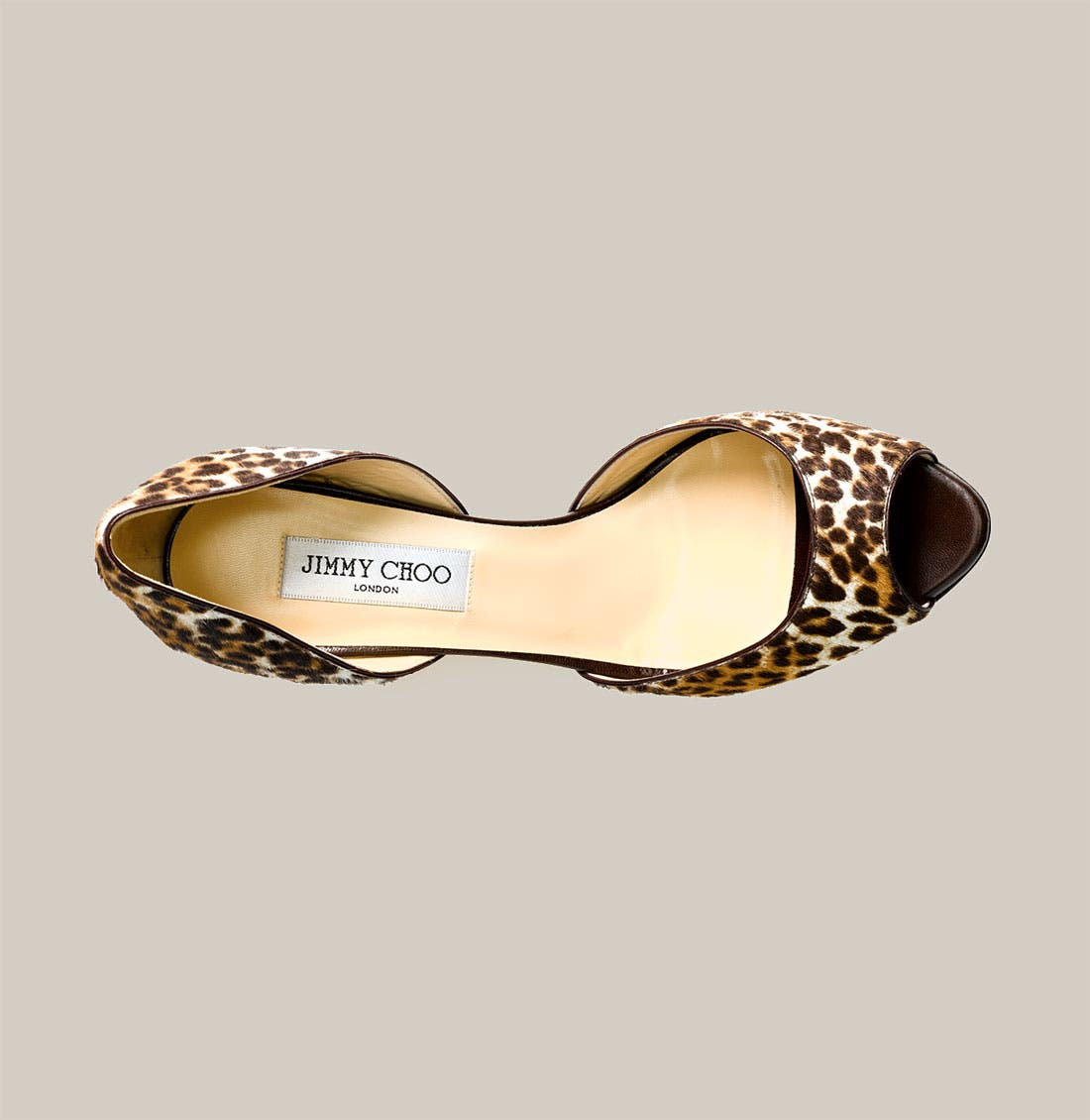 Alternate Image 3  - Jimmy Choo Leopard Print Calf Hair d'Orsay Pump