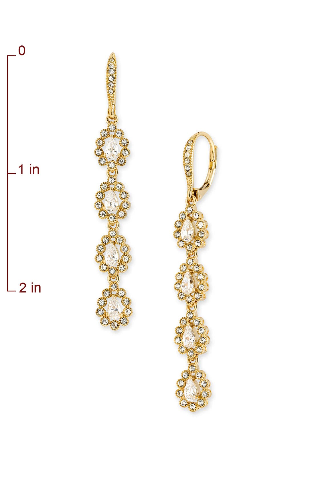 Alternate Image 2  - Nadri Linear Teardrop Earrings