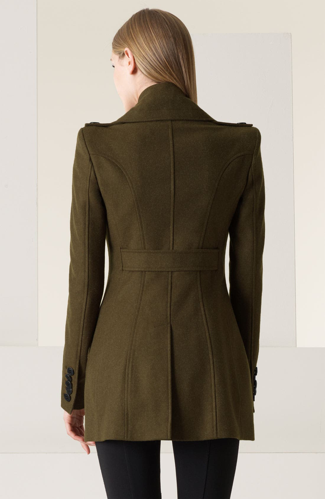 Alternate Image 2  - Burberry Prorsum Double Breasted Felt Military Coat