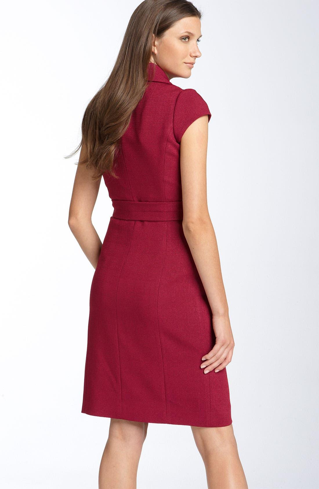 Alternate Image 2  - Classiques Entier® 'Caprice' Cap Sleeve Crepe Dress