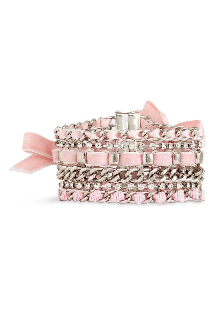 Juicy Couture Woven Ribbon Chain Bracelet Nordstrom