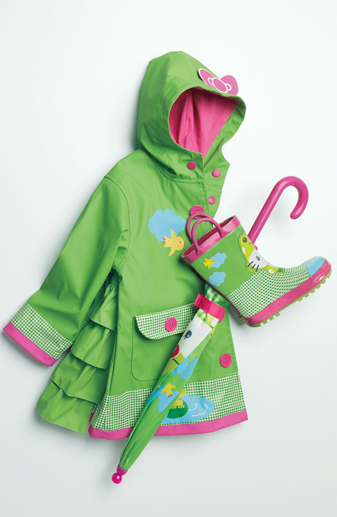Alternate Image 2  - Western Chief 'Hello Kitty® Froggy' Raincoat (Toddler Girls & Little Girls)
