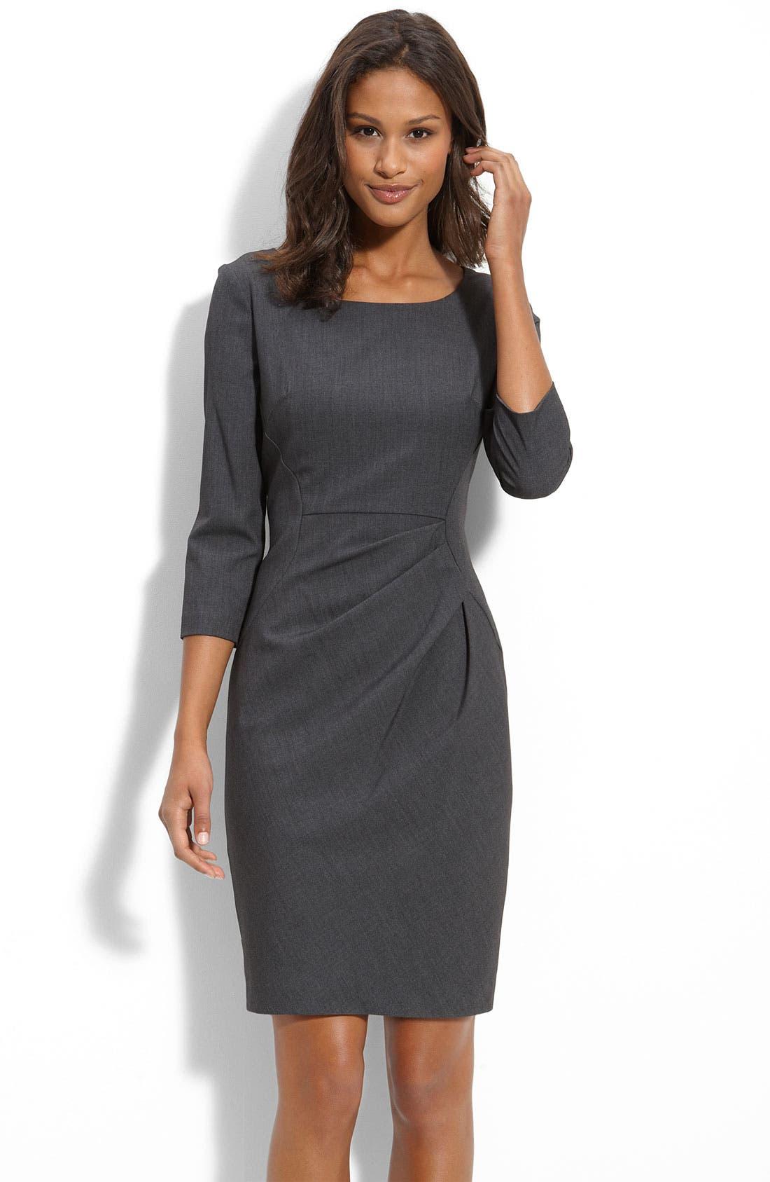 Calvin Klein Pleat Detail Sheath Dress Nordstrom