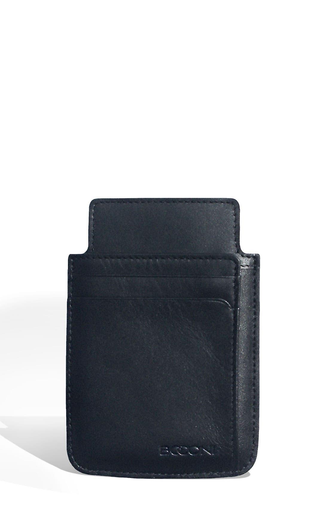 Alternate Image 1 Selected - Boconi Leather Smartphone Sheath