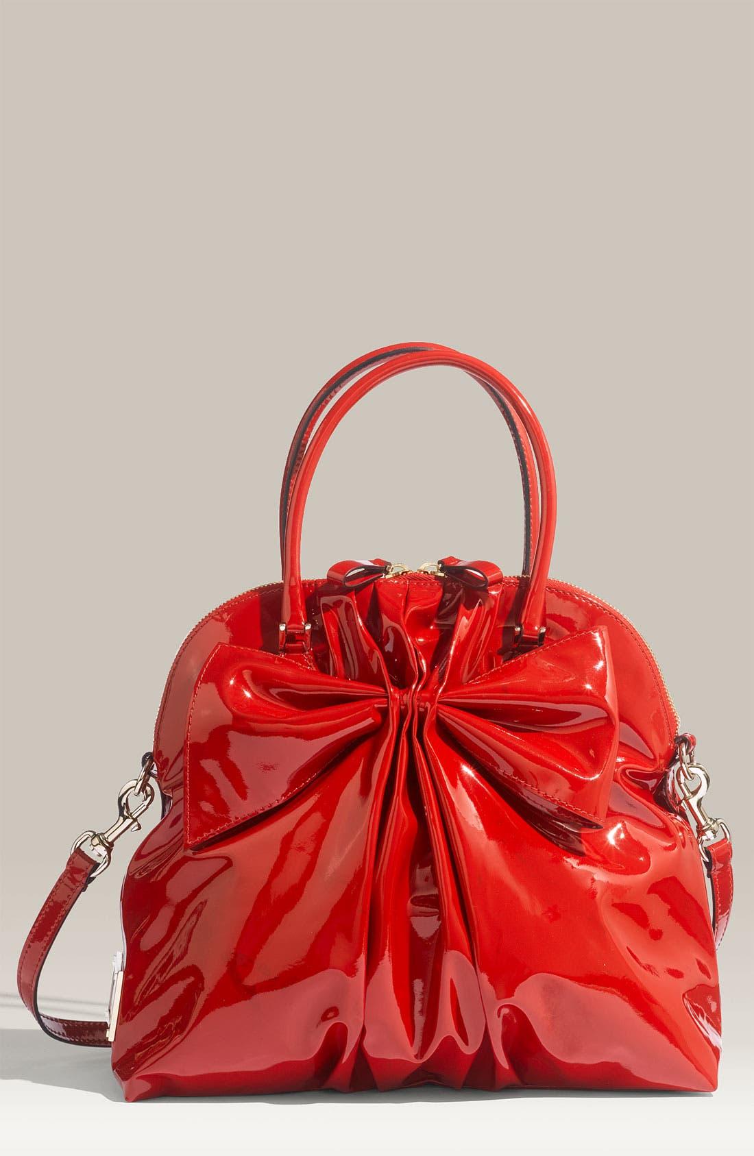 Main Image - Valentino 'Bon Bon Dome Bow' Patent Leather Satchel