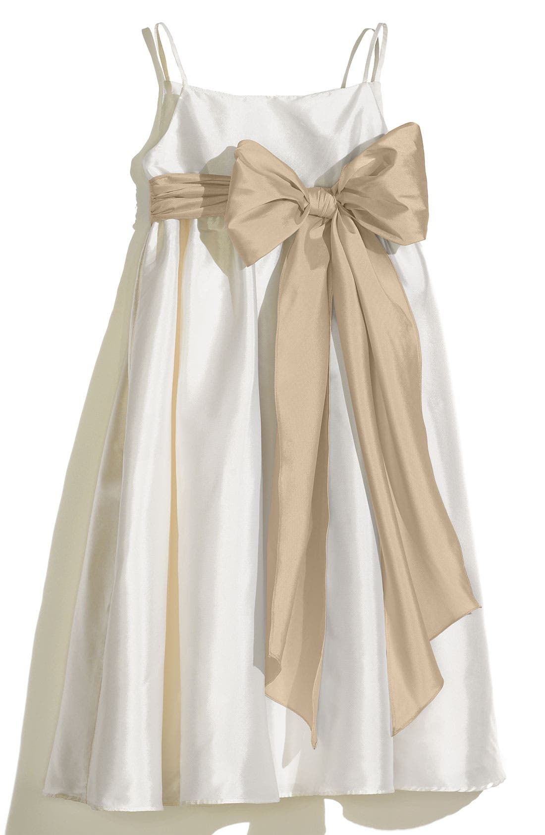 Alternate Image 1 Selected - Us Angels A-Line Dress with Sash (Toddler Girls, Little Girls & Big Girls)