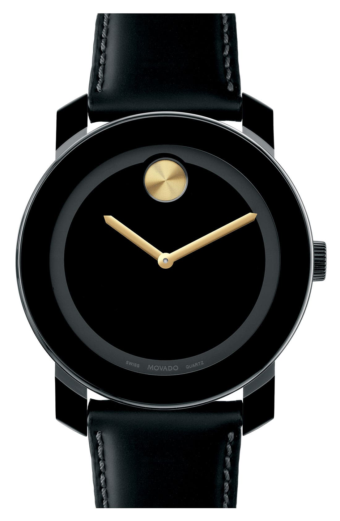 Alternate Image 1 Selected - Movado 'Large Bold' Metallic Marker Watch, 42mm (Regular Retail Price: $395.00)