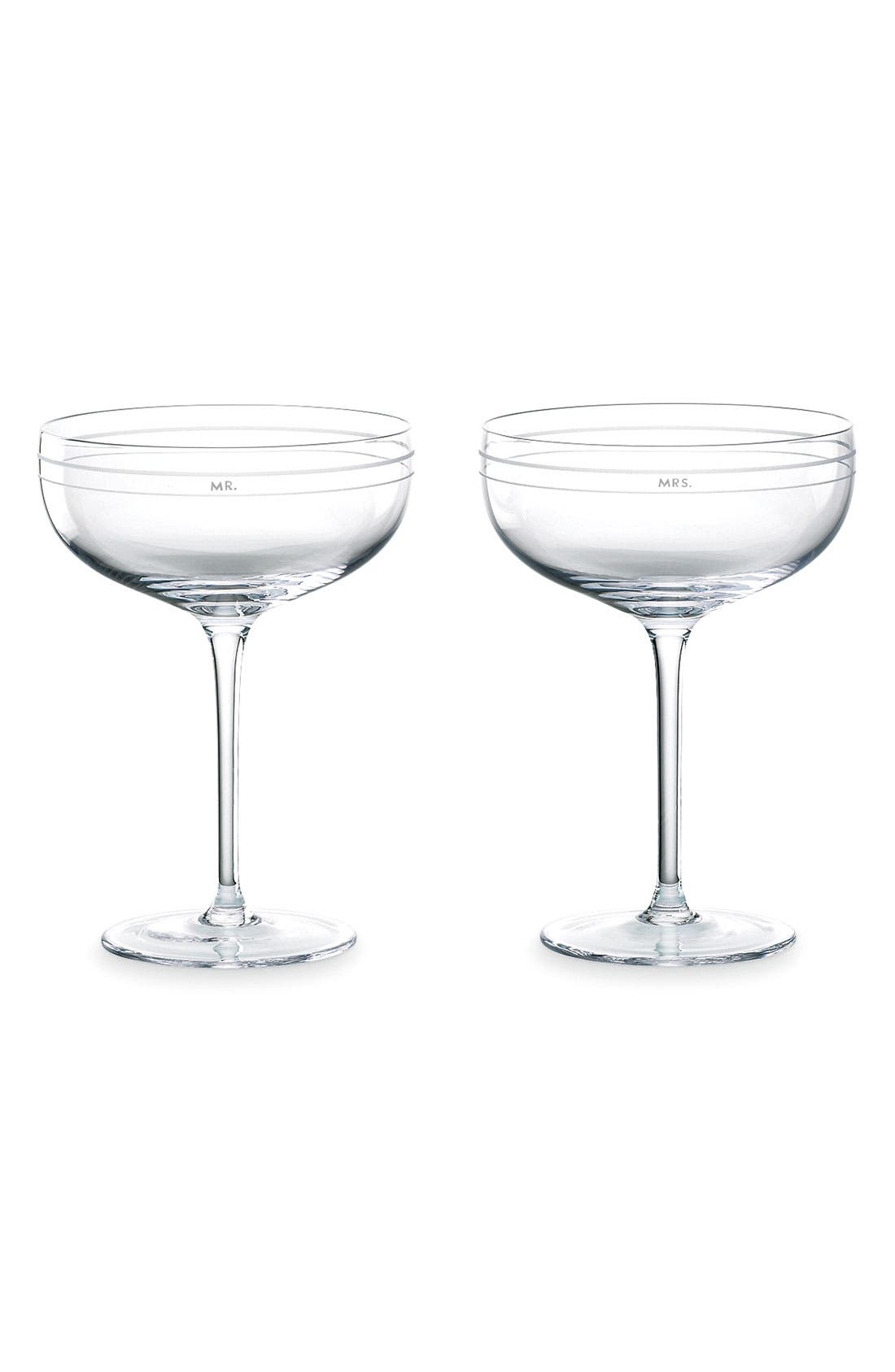 Alternate Image 1 Selected - kate spade new york 'darling point' champagne saucers (set of 2)