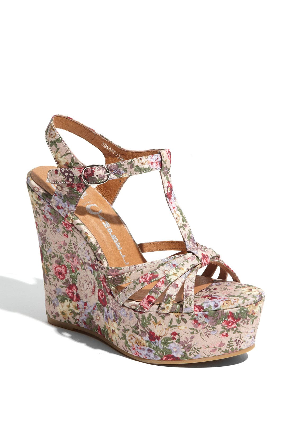 Alternate Image 1 Selected - Jeffrey Campbell 'Swansong' Wedge Sandal