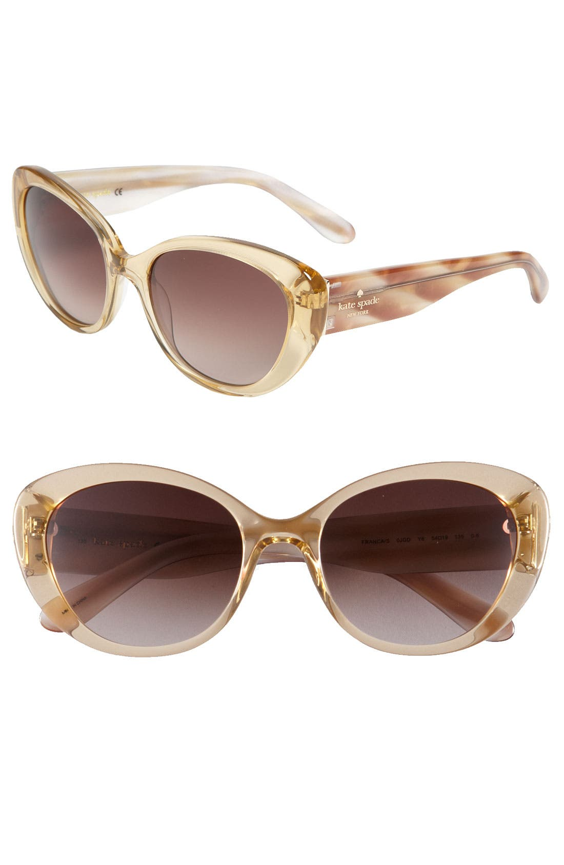 Main Image - kate spade new york 'franca' 54mm cat's eye sunglasses