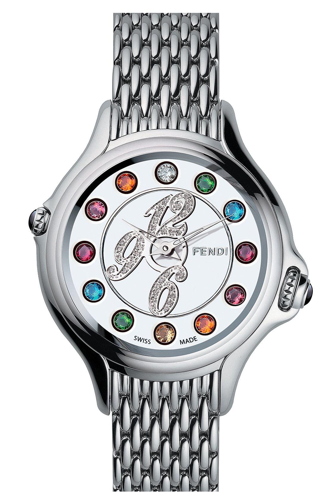 Alternate Image 1 Selected - Fendi 'Crazy Carats' Diamond Bracelet Watch