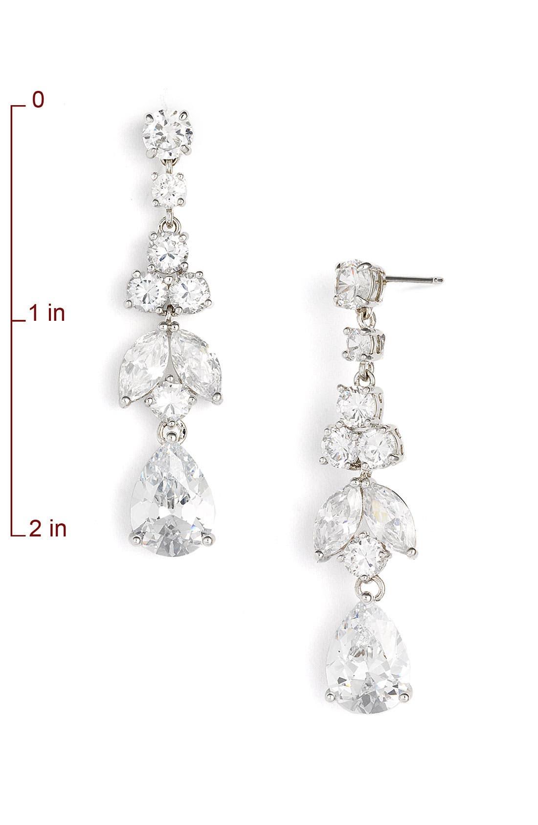 Alternate Image 2  - Tasha Cubic Zirconia Pear Drop Earrings
