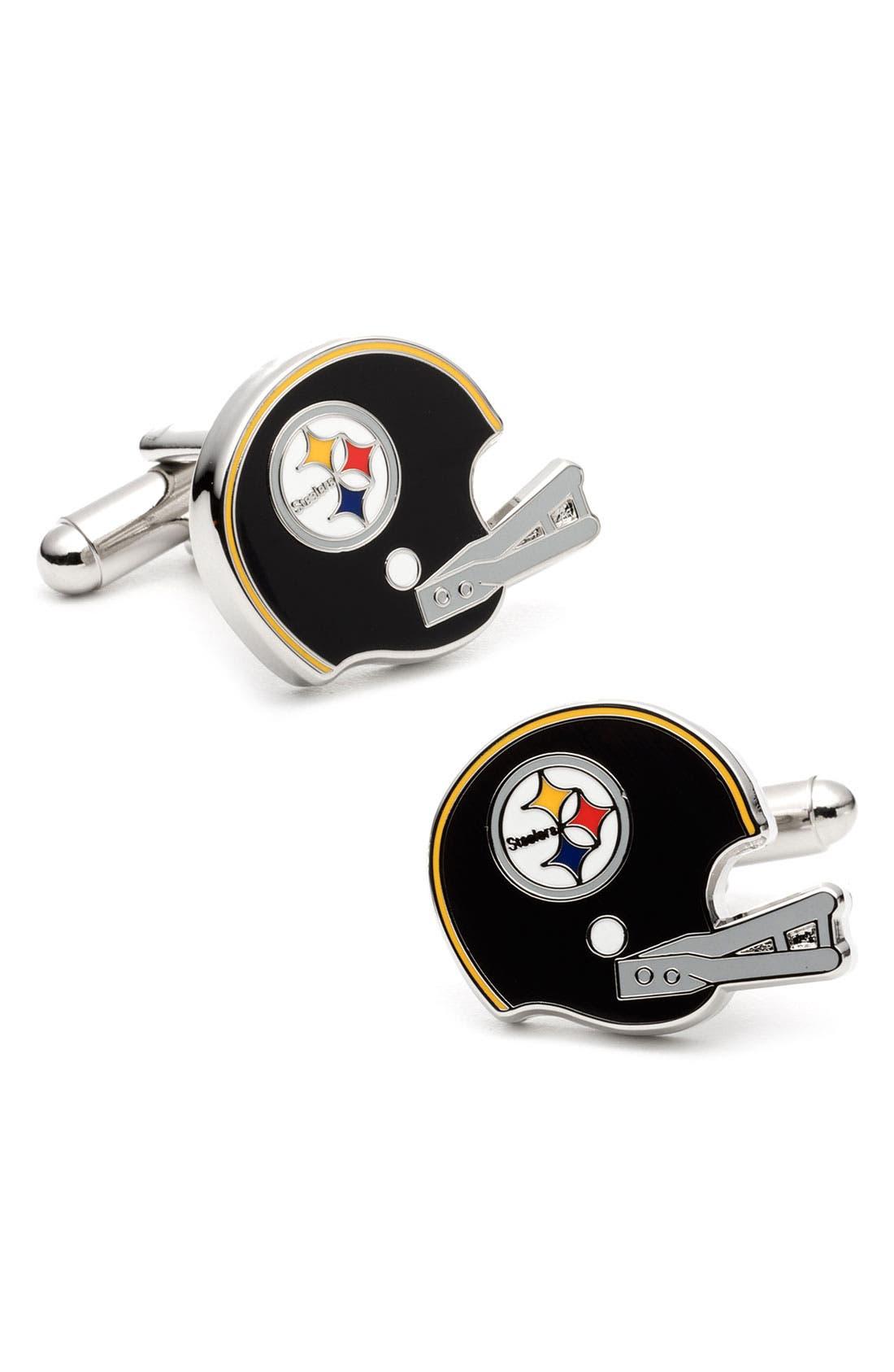 Main Image - Cufflinks, Inc. 'Pittsburgh Steelers' Cuff Links