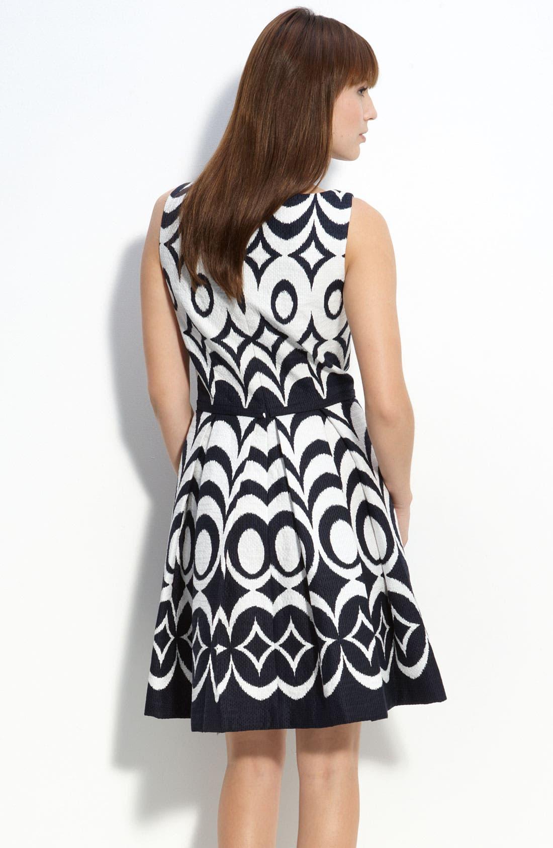 Alternate Image 2  - Taylor Dresses Jacquard Party Dress