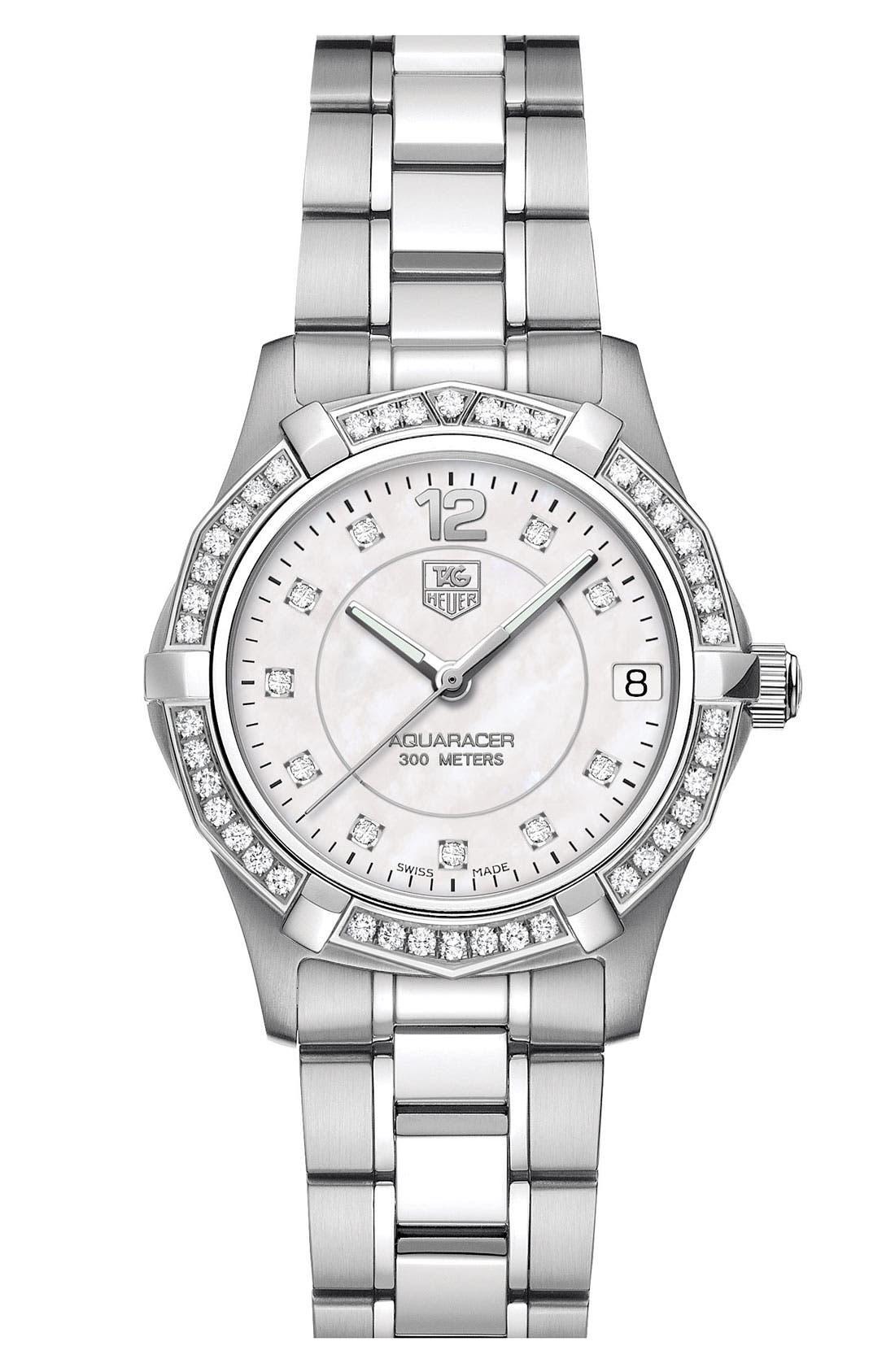 Alternate Image 1 Selected - TAG Heuer 'Aquaracer' Diamond Watch
