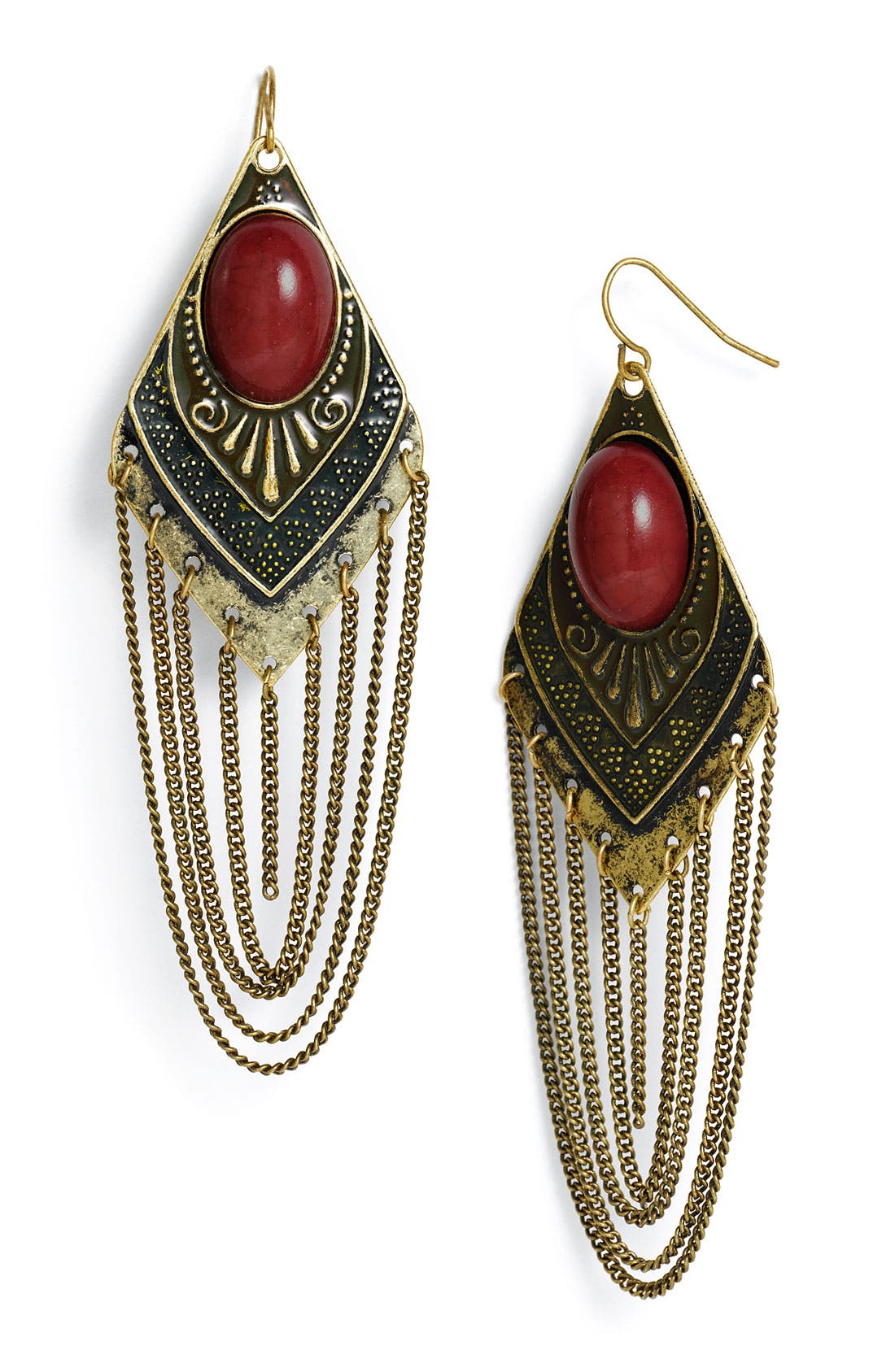 Alternate Image 1 Selected - Carole Chain Detailed Earrings