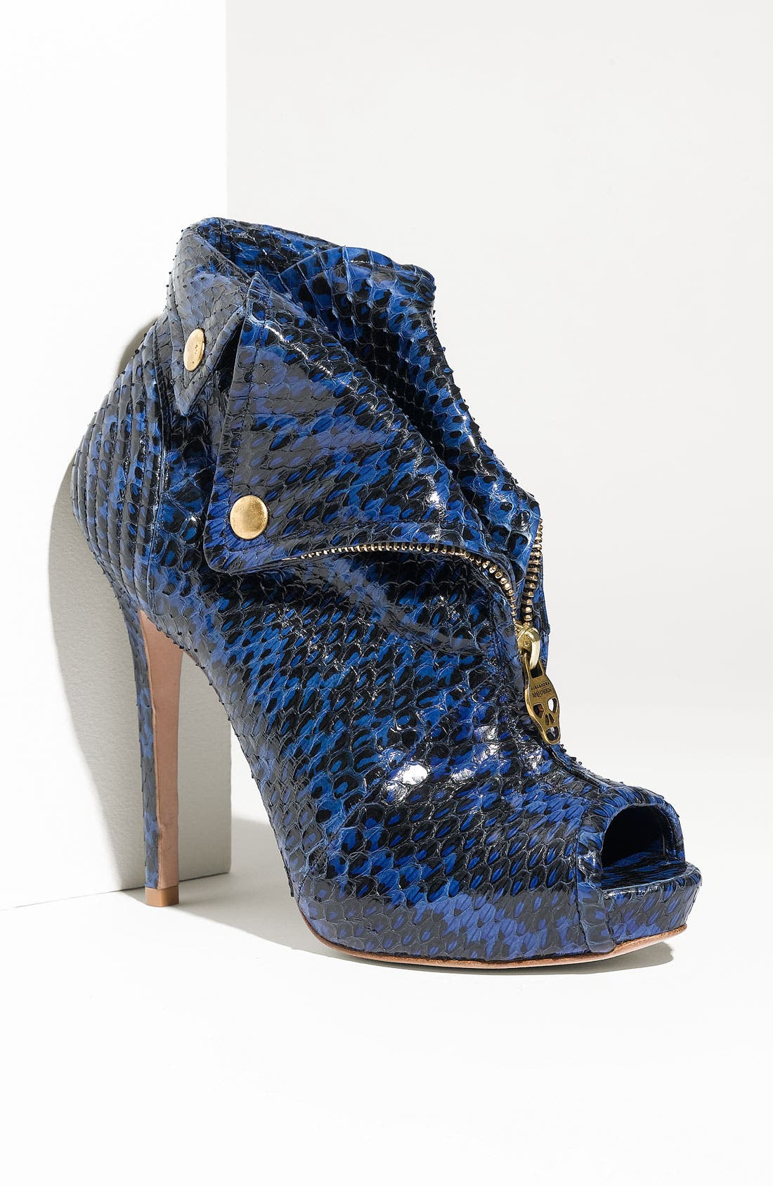 Alternate Image 1 Selected - Alexander McQueen Genuine Snakeskin Bootie