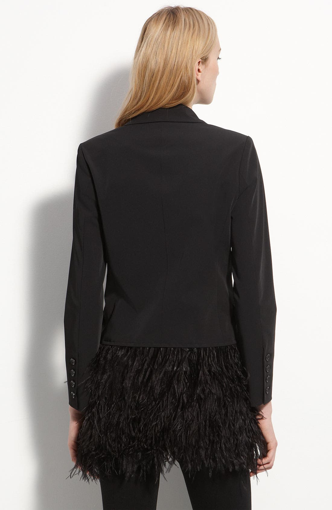 Alternate Image 2  - Elizabeth and James 'James' Genuine Ostrich Feather Trim Blazer