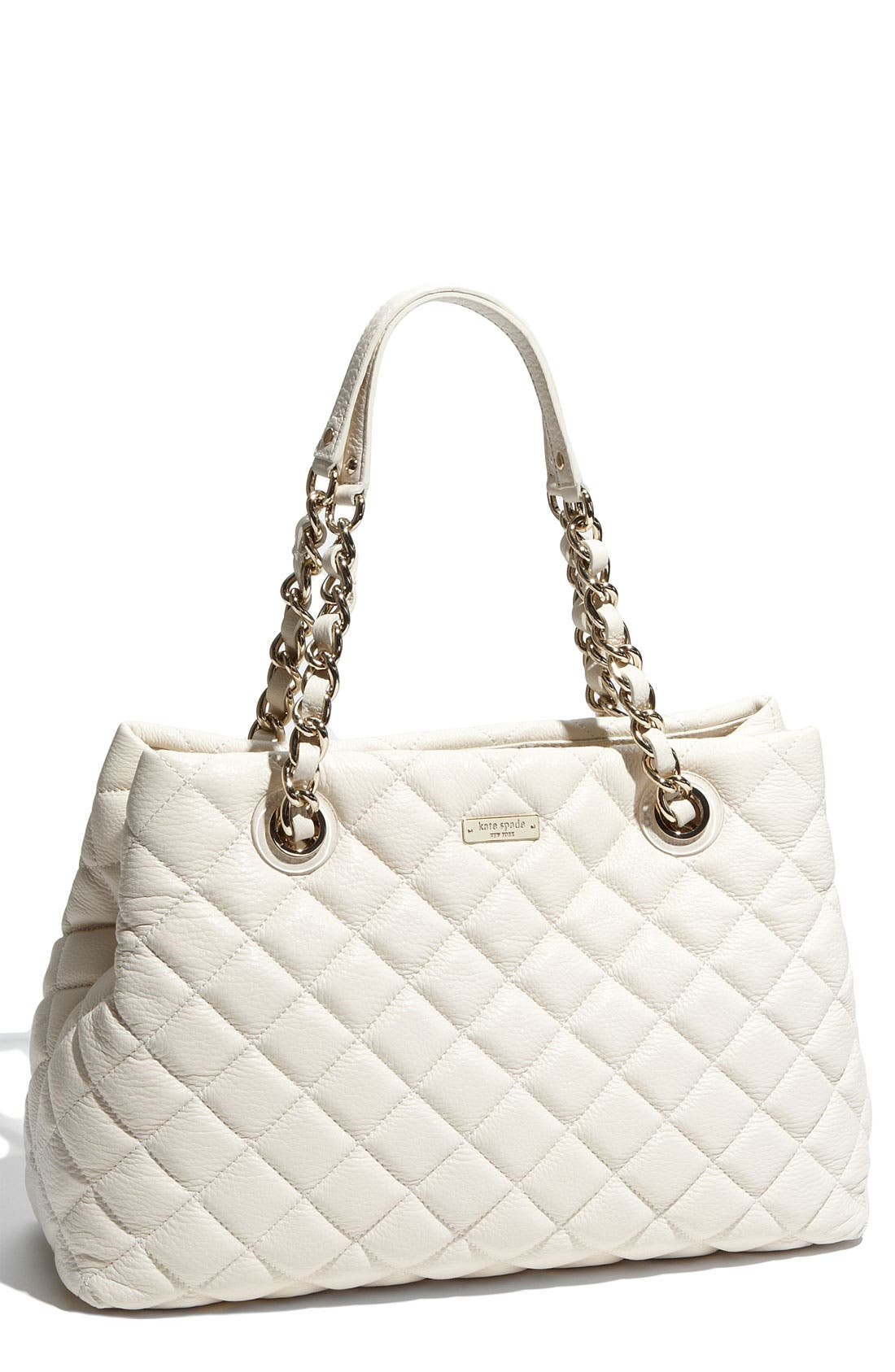 Main Image - kate spade new york 'gold coast - maryanne' quilted leather shopper, large