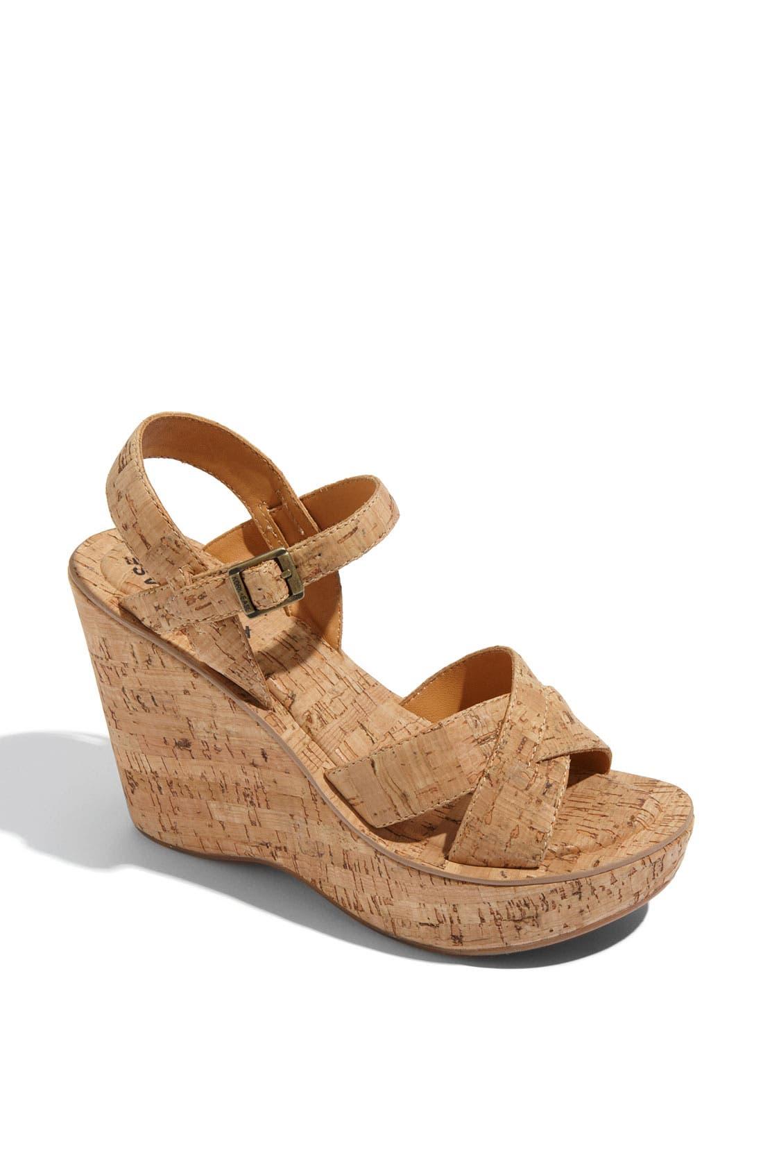 Alternate Image 1 Selected - Kork-Ease 'Bette' Wedge Sandal