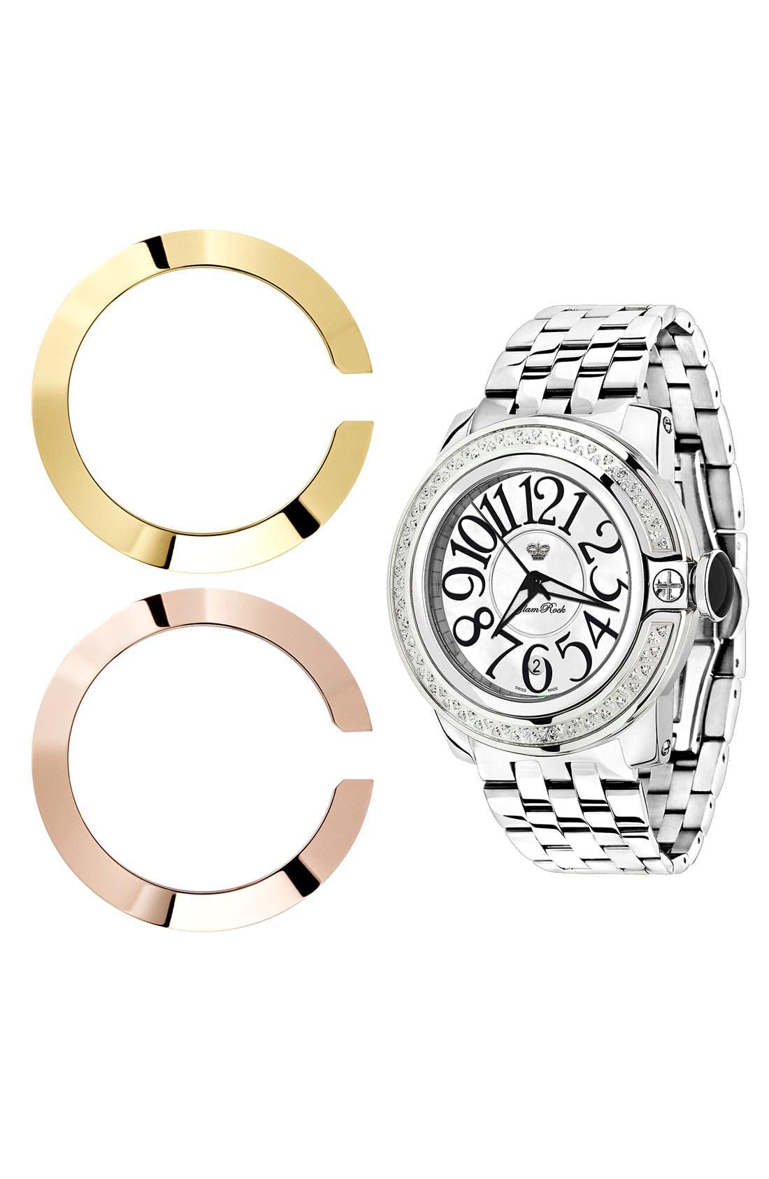Alternate Image 2  - Glam Rock 'So Be Diamond' Bracelet Watch
