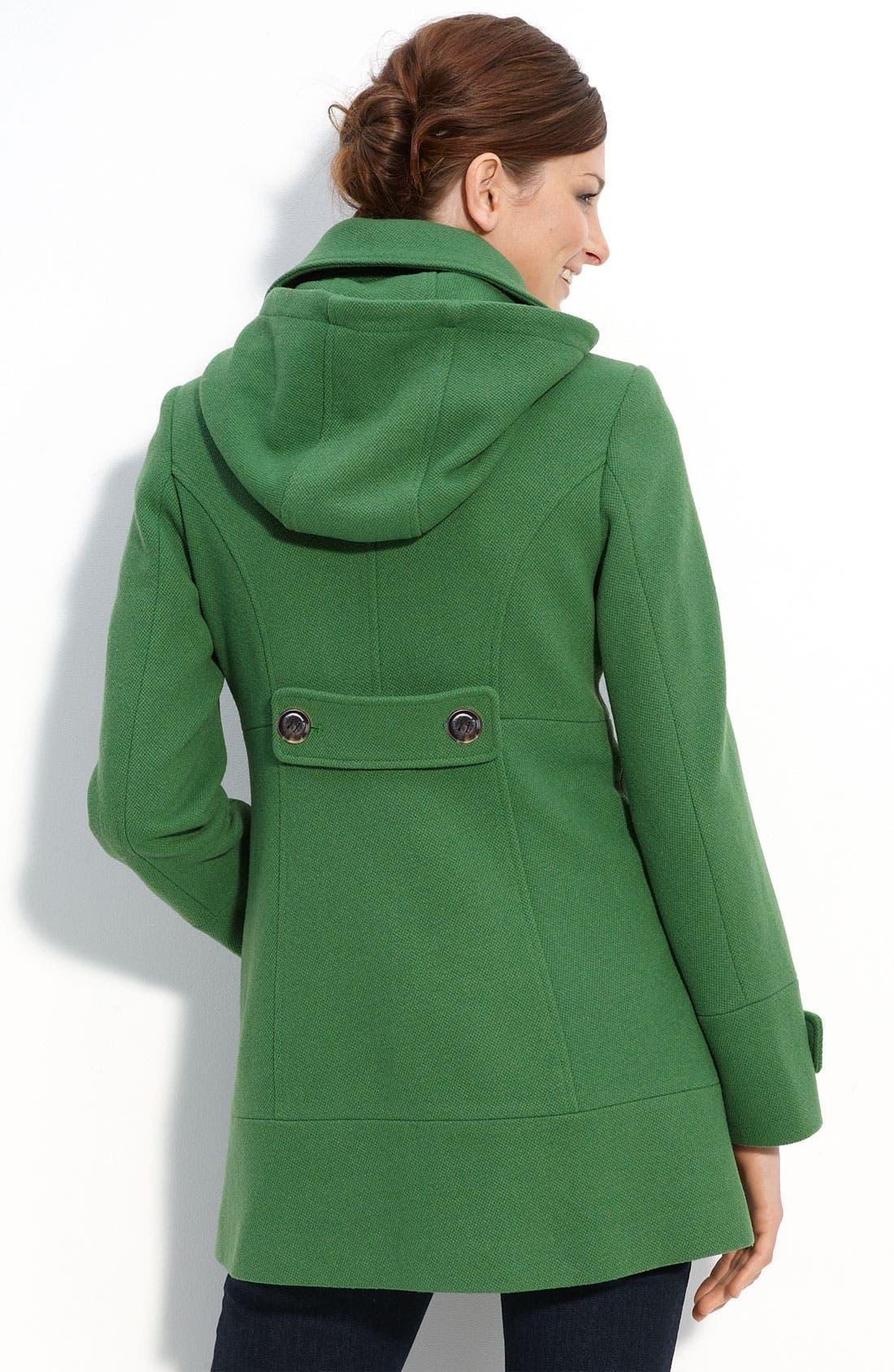 Alternate Image 2  - Calvin Klein Wool Blend Duffle Coat