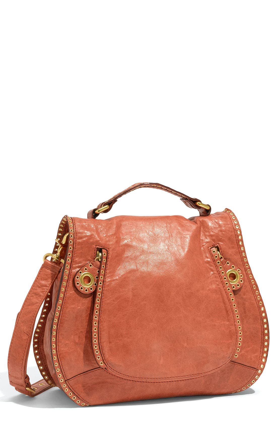 Main Image - Rebecca Minkoff 'Vanity' Glazed Leather Crossbody Bag