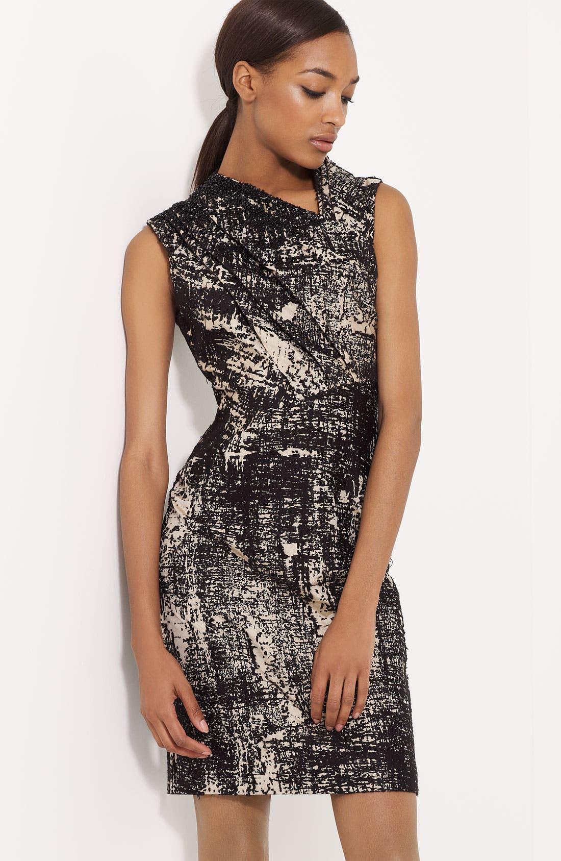 Main Image - Ports 1961 Pleated Jacquard Dress