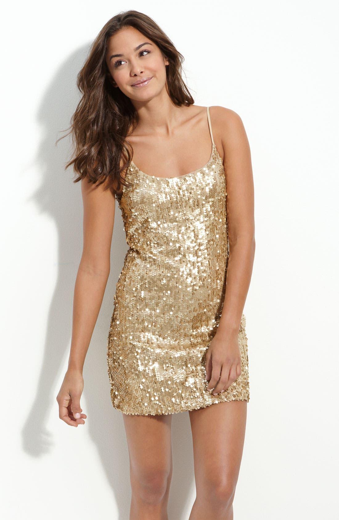 Main Image - Speechless Sequin Dress (Juniors)