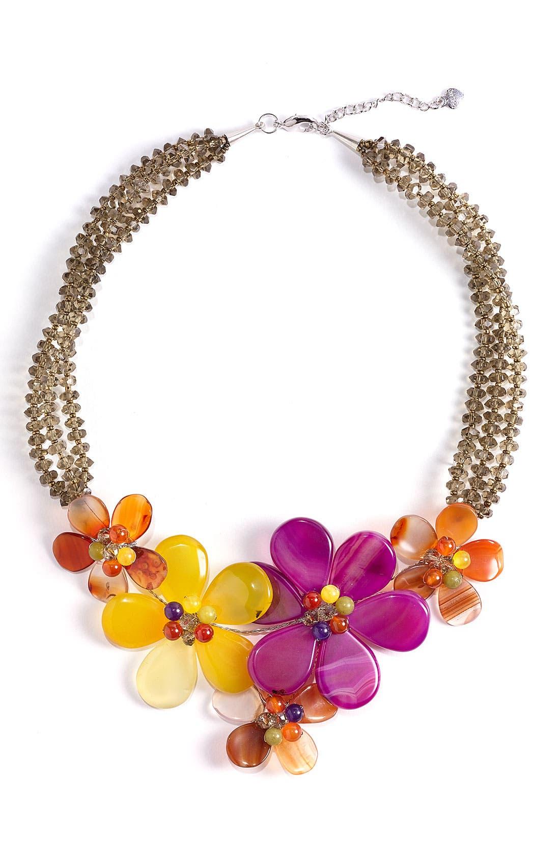 Alternate Image 1 Selected - Nakamol Design 5-Flower Stone Necklace