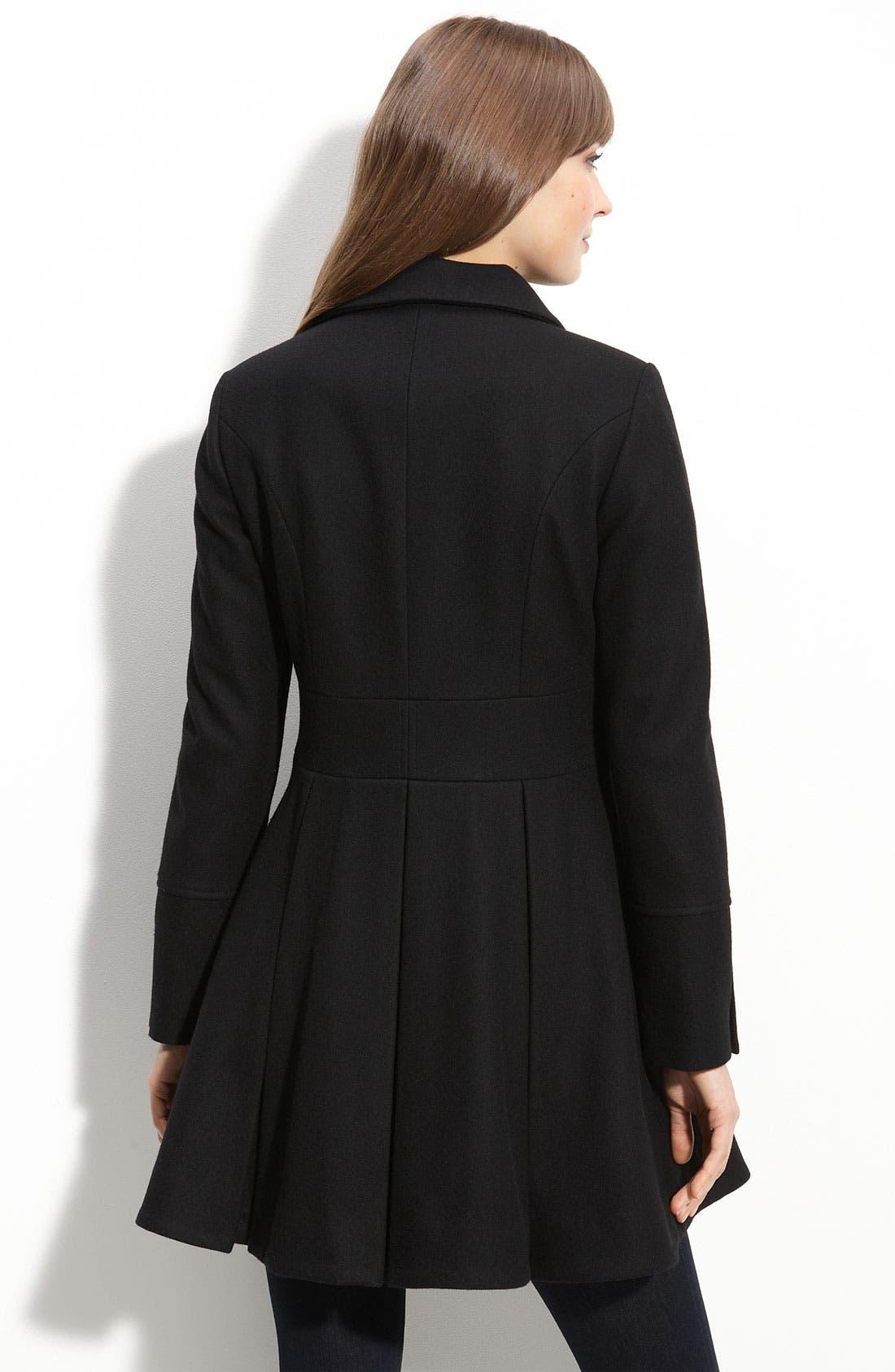 Alternate Image 2  - Betsey Johnson Military Style Coat