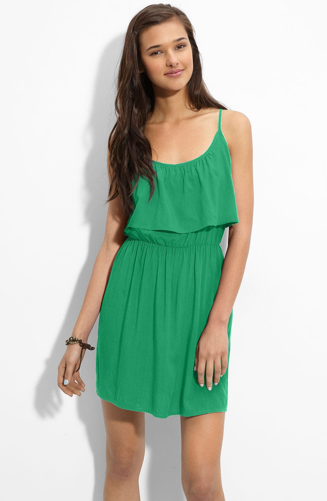 Alternate Image 1 Selected - Mimi Chica Ruffled Dress (Juniors)